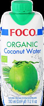 Кокосовая вода «FOCO» Organic, 330мл