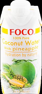Кокосовая вода «FOCO» с соком ананаса, 330мл