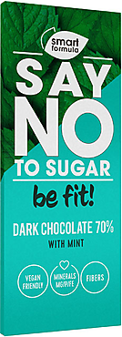 «Smart Formula», горький шоколад Darkwithmint, 90г