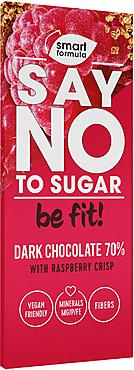 «Smart Formula», горький шоколад Dark with raspberry crisp, 90г
