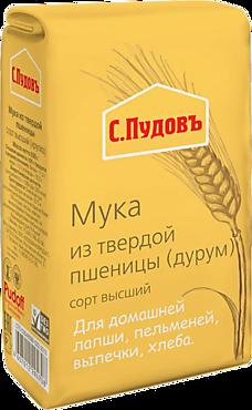 Мука «С.Пудовъ» из твердой пшеницы, 500г