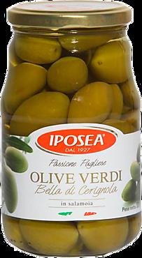 Оливки «IPOSEA» Белла Чериньола, 530г
