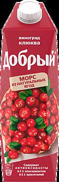 Морс «Добрый» Виноград-клюква, 1л