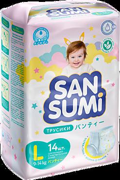 Подгузники-трусики «Sansumi» размер L (9-14 кг), 14шт