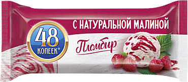 Пломбир «48 копеек» с натуральной малиной, 626мл