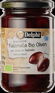 Маслины «Delphi» БИО Каламата, в рассоле, 290г