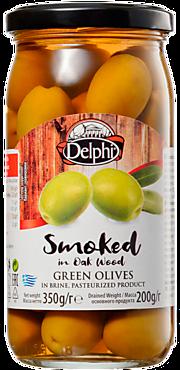 Оливки «Delphi» копченые, в рассоле, 350г