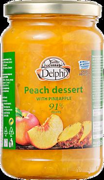 Десерт «Delphi» из персиков с ананасом, 360г