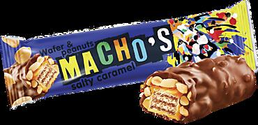 Батончик «Machos» с соленой карамелью и арахисом, 40г