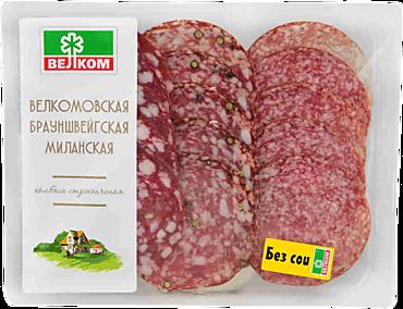 Набор колбас «Велком» Брауншвейгская, Миланская, Велкомовская, в нарезке, 90г