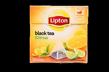Чай черный «Lipton» Цитрус, 20 пирамидок