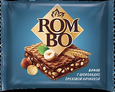 Вафля «Rombo» с ореховой начинкой, 12г