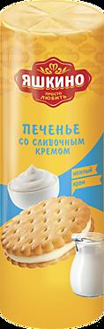 Печенье «Яшкино» затяжное со сливочным кремом, 190г