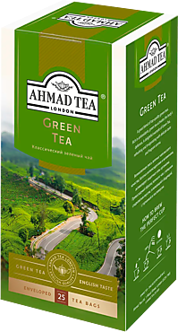 Чай зеленый «Ahmad Tea» 25 пакетиков