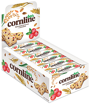 Зерновой батончик Cornline с клюквой, 30г
