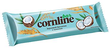 Зерновой батончик Cornline с кокосом, 30г