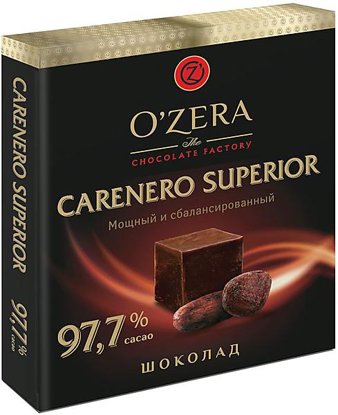 «OZera», шоколад Carenero Superior, содержание какао 97,7%, 90г – купить по лучшей цене с бесплатной доставкой в интернет-магазине KDV