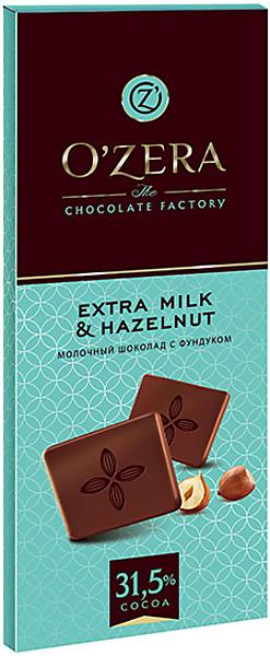 «OZera», шоколад молочный Extra milk & Hazelnut, 90г – купить по лучшей цене с бесплатной доставкой в интернет-магазине KDV