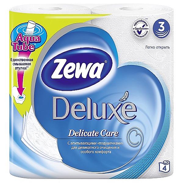 Туалетная бумага белая трехслойная «Zewa» Deluxe – купить по приятной цене с доставкой на дом в интернет-магазине Ярче