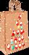 Пакет подарочный крафтовый, 18*23см