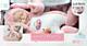 Спящий мальчик-зайчик в розовой шубке