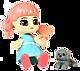 Куколка-сюрприз с аксессуаром и домашним питомцем