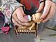 Куколка-сюрприз в съемной шапочке зверька, с бутылочкой, 8 см
